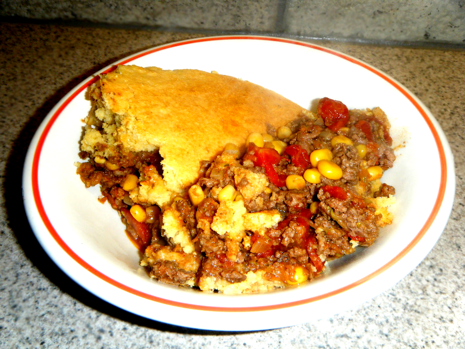Baked Chili with Cornmeal Crust picture