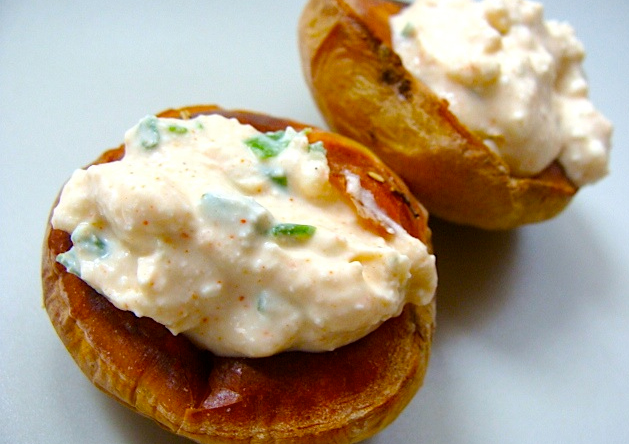 Baked Potato with Yogurt Topping picture