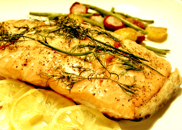 Baked Salmon Steaks picture