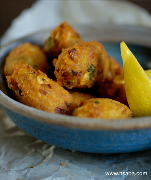 yellow split pea fritters picture