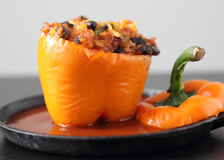 Bean Stuffed Bell Peppers picture