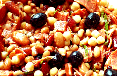 Salami And Bean Salad picture