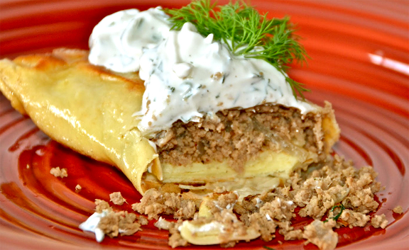Beef N Cheese Crepes picture