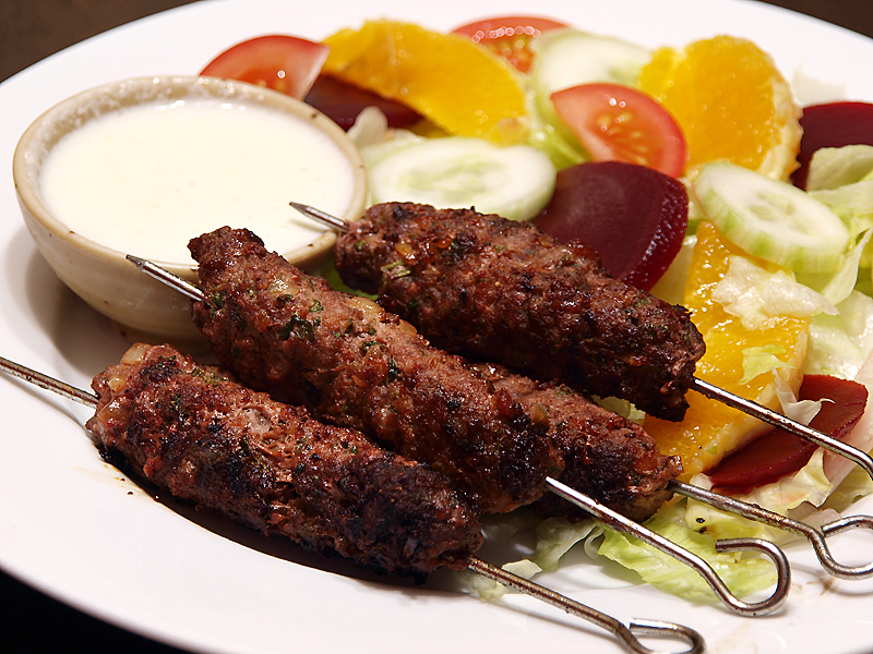 Arabic Beef Kefta with Saffron Yogurt picture