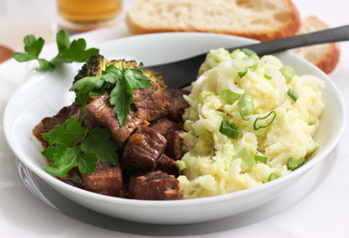 Beef with Colcannon picture