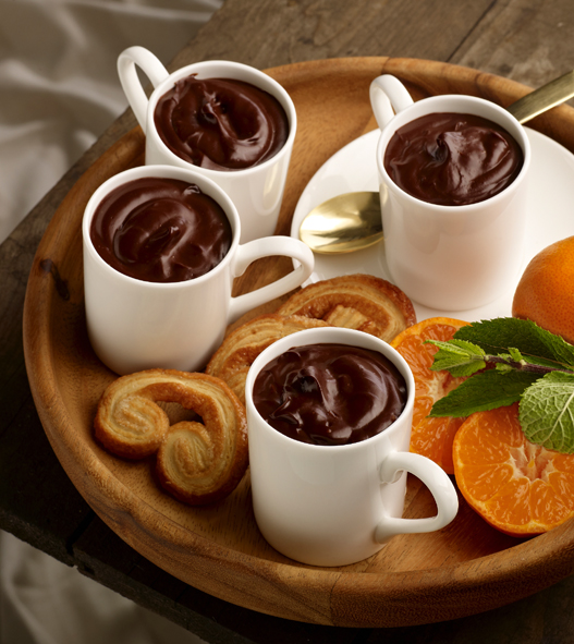 Bitter Chocolate Pots with ClemenGold Compote picture