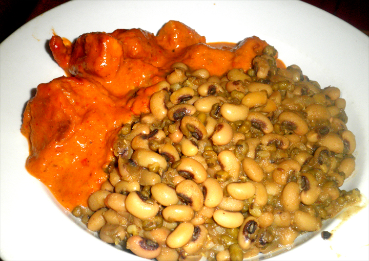 Chicken & Black Eye Beans Peas picture