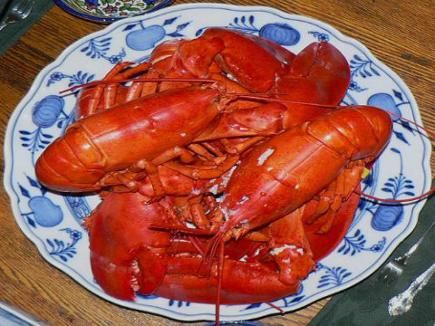 Boiled Lobster with Drawn Butter and Lemon picture