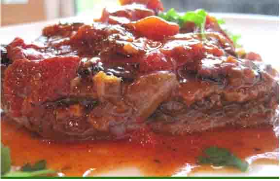 BRAISED CHUCK STEAK WITH VEGETABLES picture