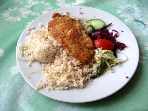 Breast Of Chicken On Rice picture