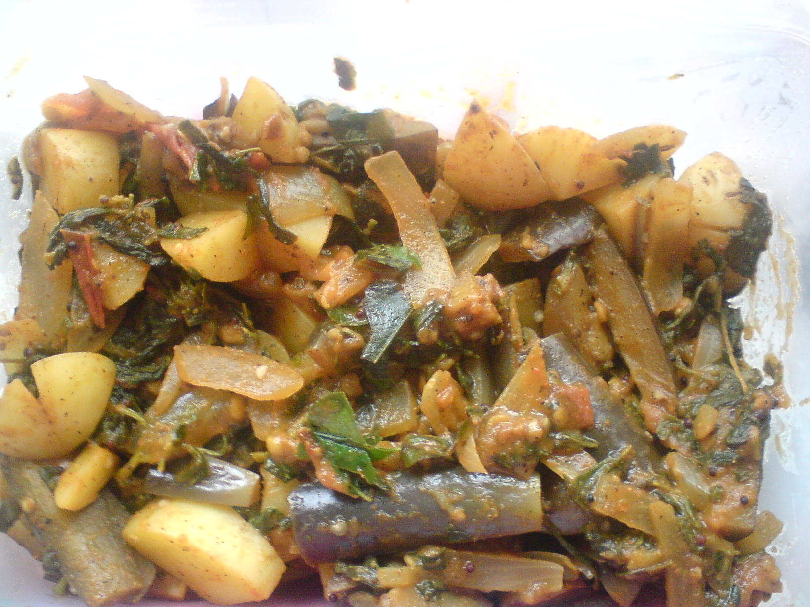 Brinjal Methi And Aloo Sabzi picture
