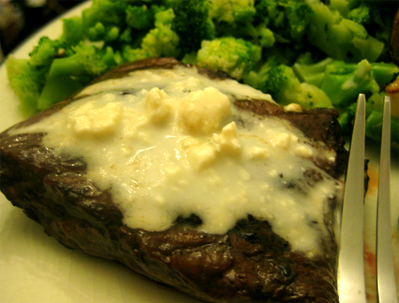 Tyson Beef Tenderloin Steaks With Blue Cheese Topping picture