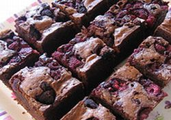 Sour Cream Raspberry Brownies picture