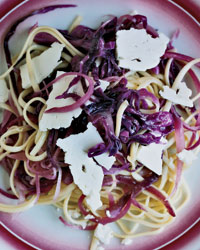 Linguine with Red Cabbage picture