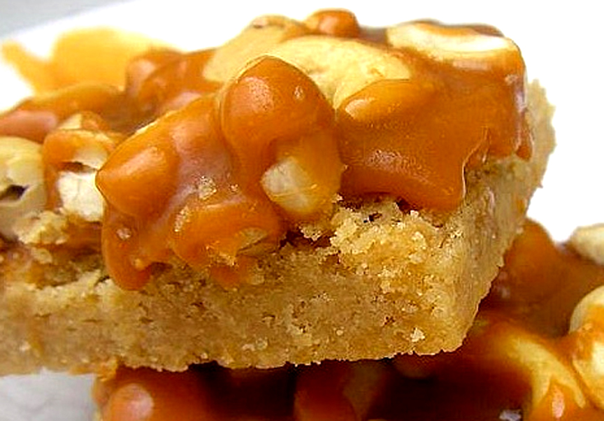 Caramel Cashew Shortbread Bars picture