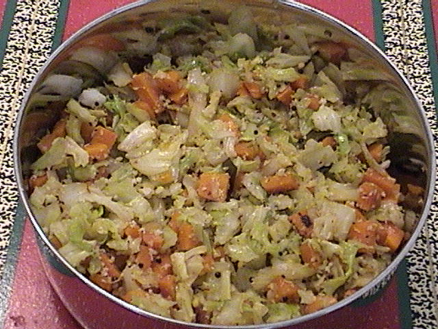 Carrot and cabbage curry picture