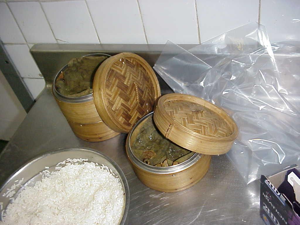 Veg Glutinous Rice Wrapped In Lotus Leaf picture