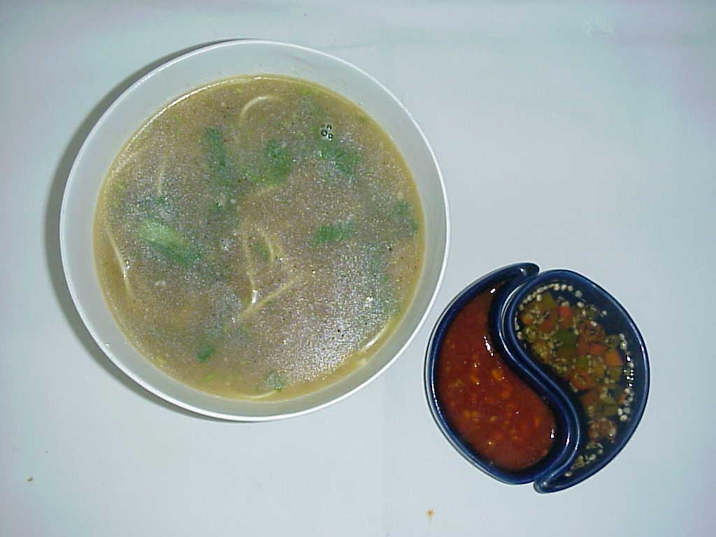 Chicken Clear Soup With Coriander And Lemon picture