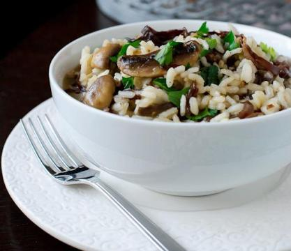 Champagne and Mushroom Risotto picture