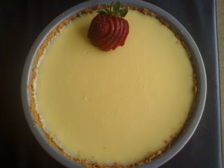 Sour cream cheesecake picture