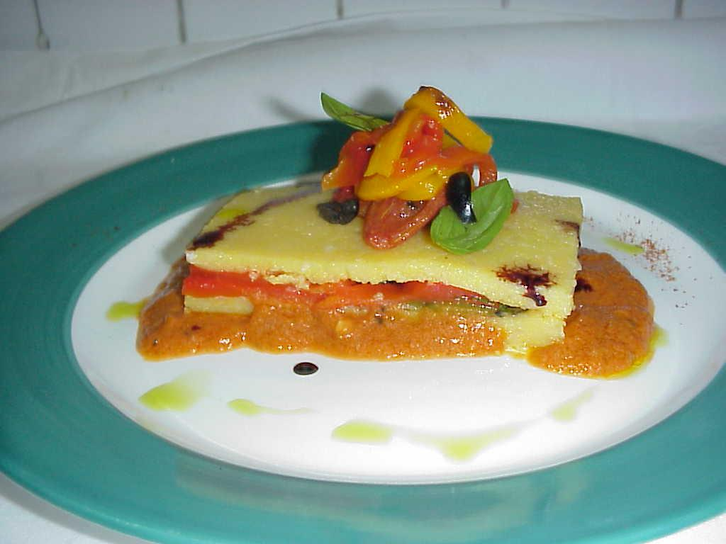 Polenta with Mediterranean veggs picture