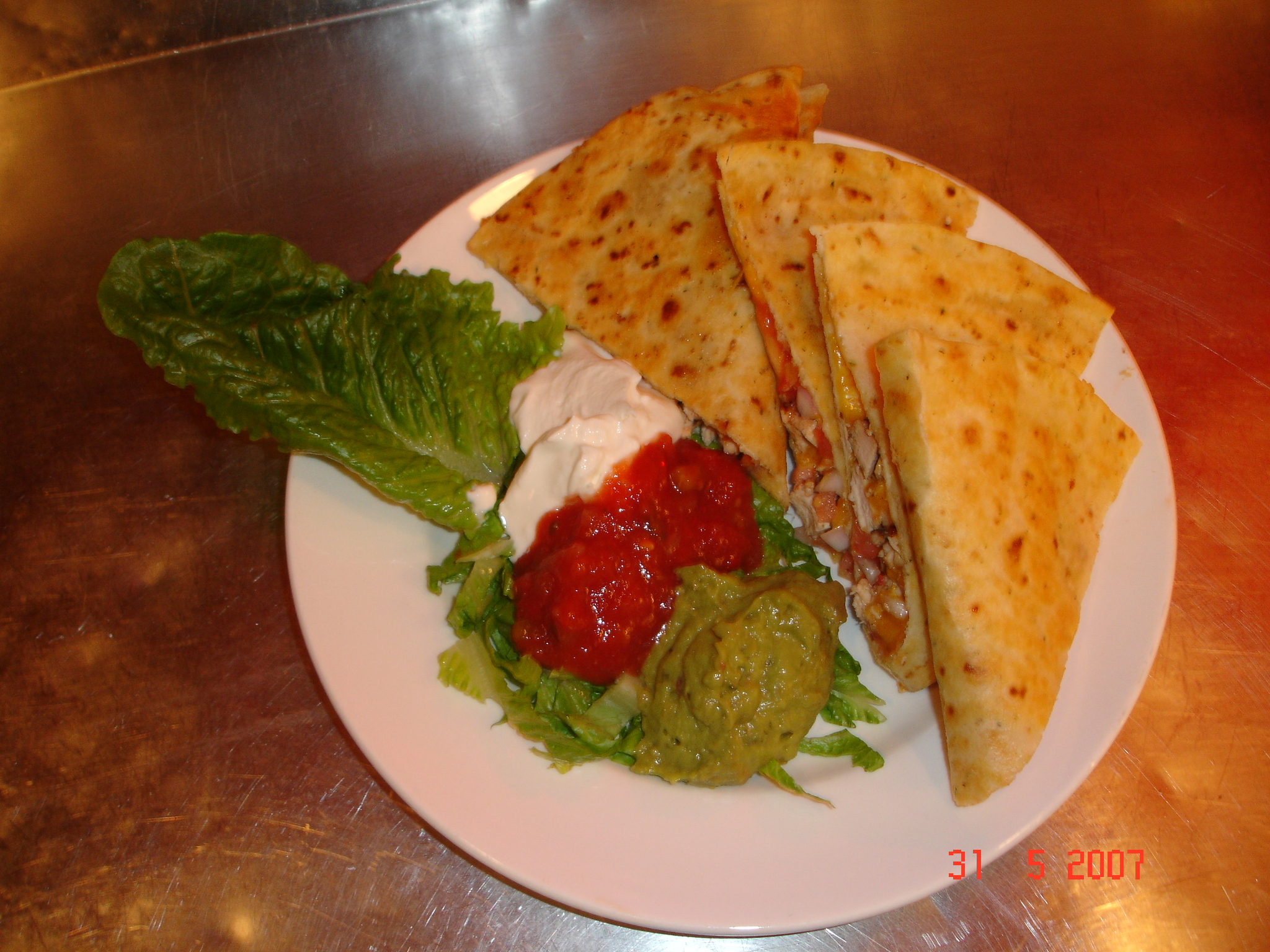 chicken quesadilla picture