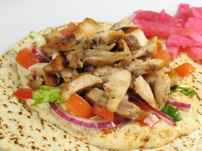 Hummus With Chicken Shawarma picture