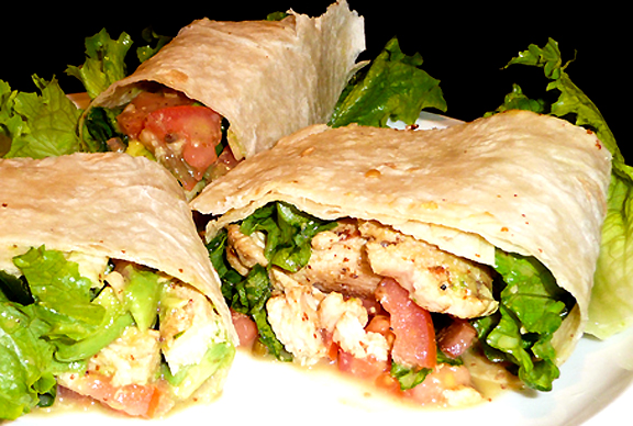 Classic Chicken Caesar Salad Wraps picture