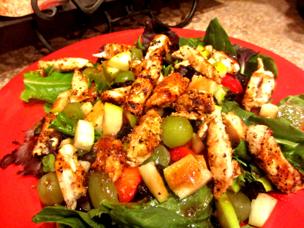 Chicken Fruit Salad Plate picture