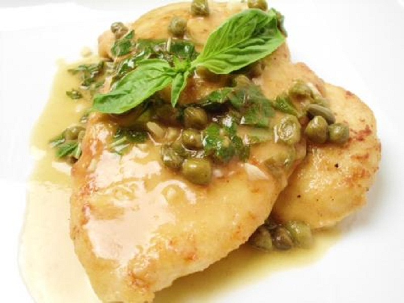 Chicken Scaloppine With Basil Sauce picture
