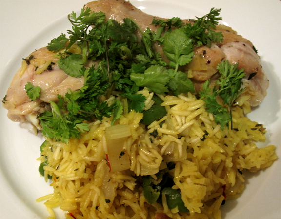Italian Chicken With Saffron Rice picture