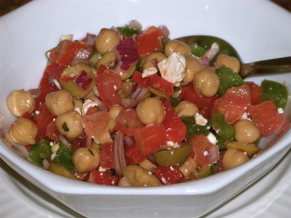 Simple Mediterranean Chickpea and Feta Salad picture