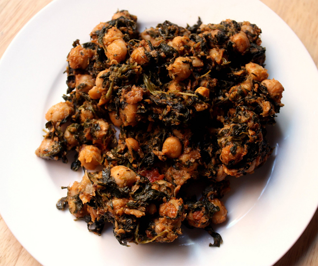 Chickpeas With Spinach picture