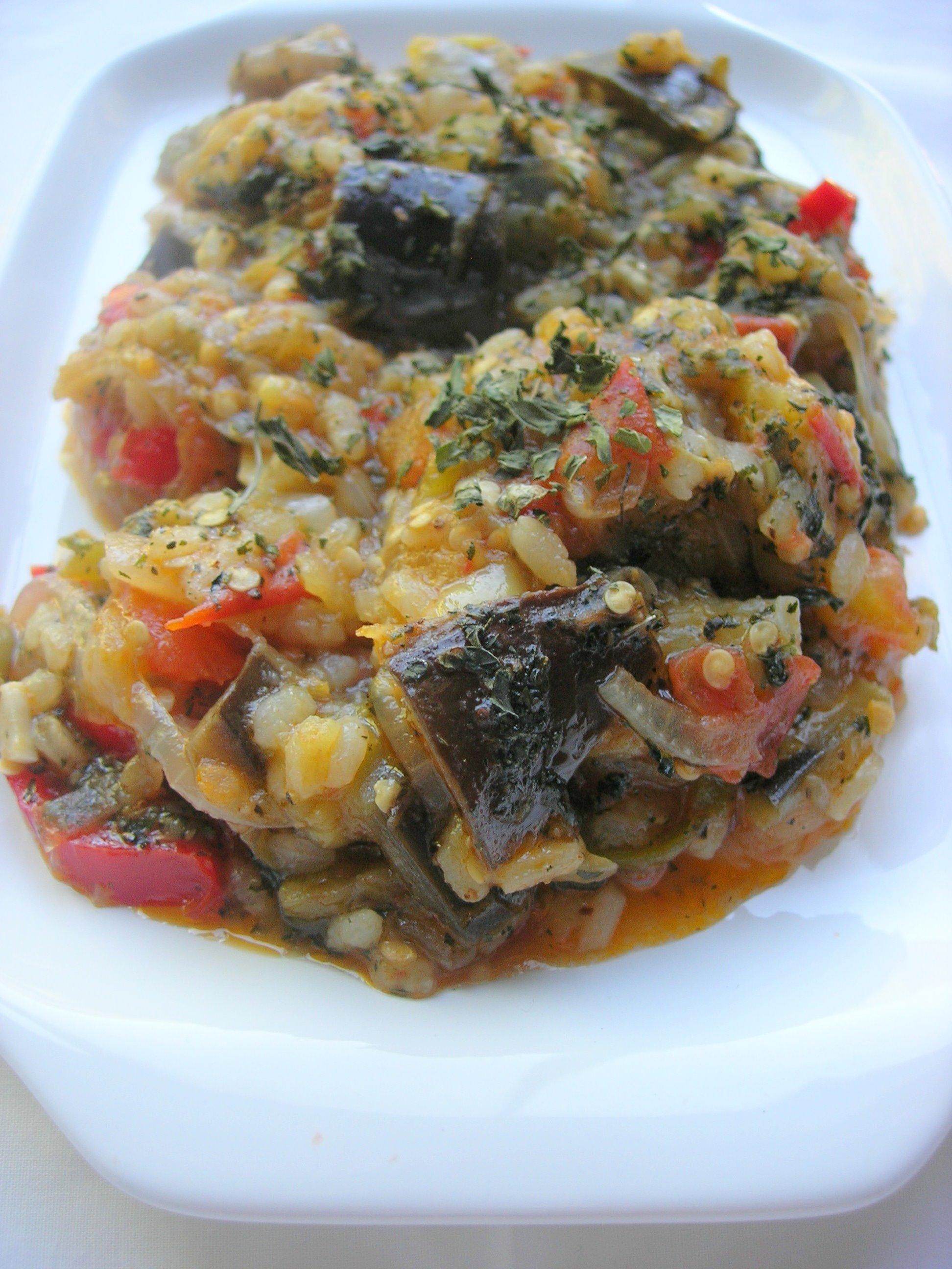Eggplant Stew with Rice picture