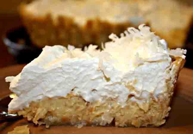 Coconut Bavarian Pie picture