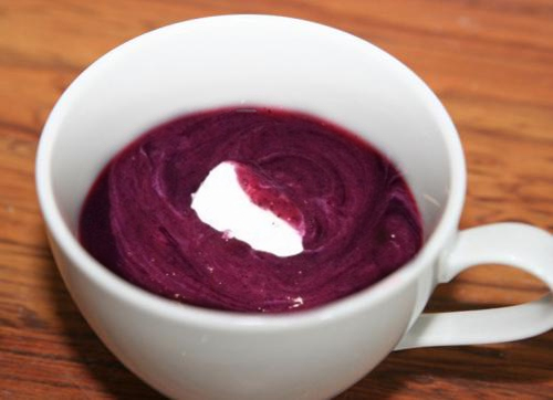 Cold Blueberry Soup picture