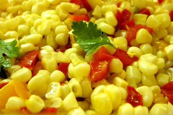 Corn And Red Peppers With Basil picture