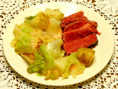 Microwave Corned Beef and Cabbage picture