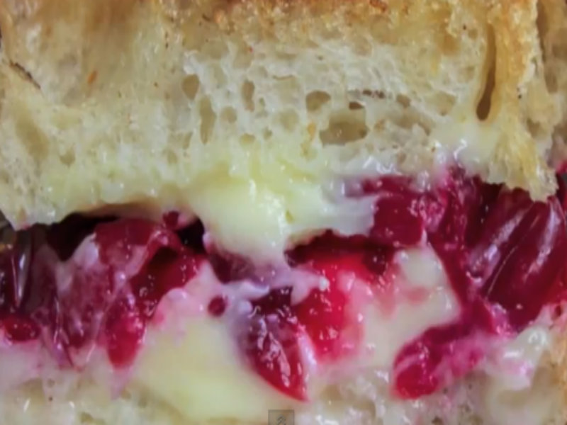 Roasted Cranberry & Brie Grilled Cheese Sandwich  picture