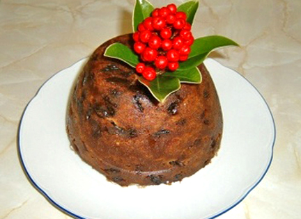 Steamed Cranberry Pudding picture