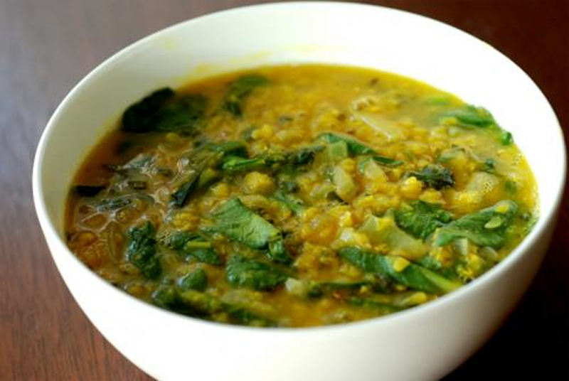 Cream Of Chick Pea With Spinach picture