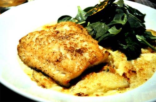 Creamy Onion Halibut picture