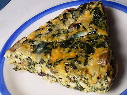 Crustless Spinach Quiche picture