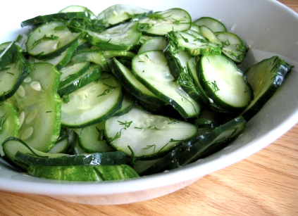 Cucumber Salad With Wine Vinegar picture