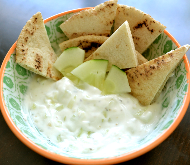 Cucumber Yogurt And Pita picture