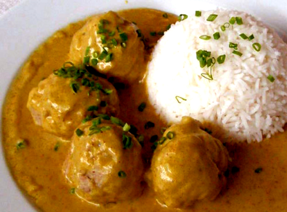 Curried Buffet Meatballs picture