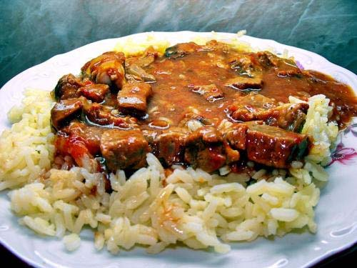 Curried Veal With Rice picture