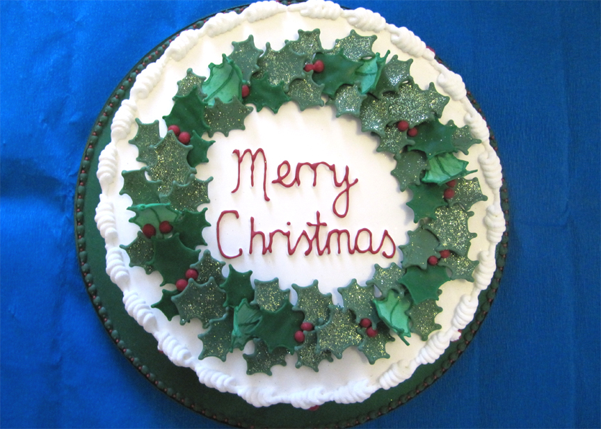 Decorated Christmas Cake picture