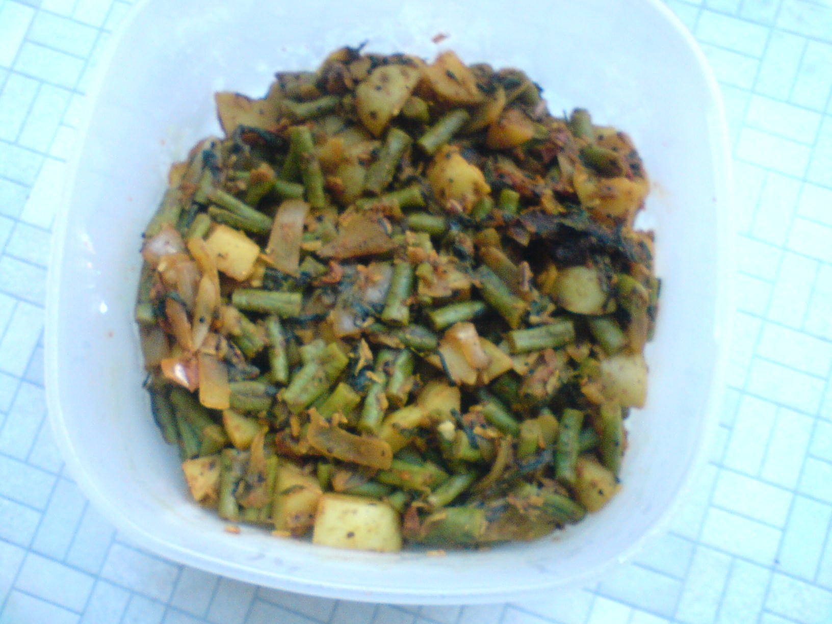 Methi leaves  curry with beans and aloo picture