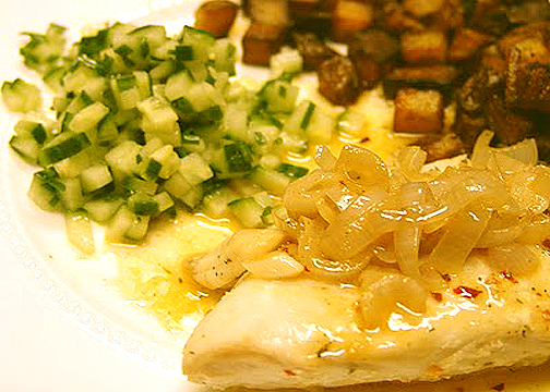 Halibut With Chive Butter picture